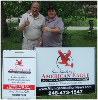 L. Nelson, retired police investigator, proudly endorses American Eagle Auction & Appraisal Company