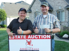 Weekday personal property and real estate auction by American Eagle Auction & Appraisal Company in Sterling Heights, Michigan hits big