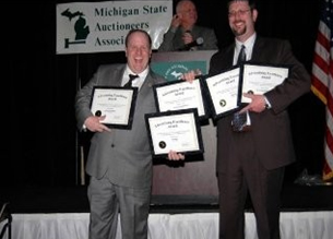 Ken Lindsay of American Eagle Auction & Appraisal Company wins five first place marketing and promotions awards at the annual Michigan State Auctioneers Association's marketing & advertising competition.