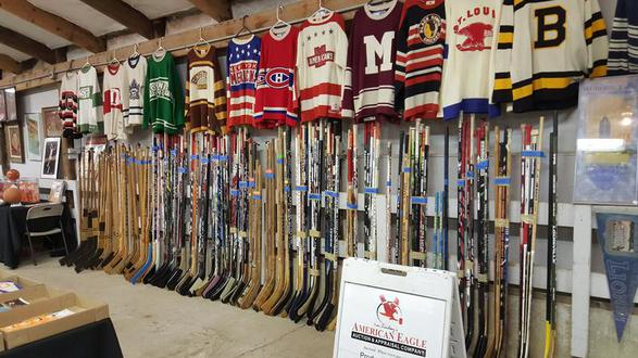 Collection of sports memorabilia being sold at auction