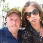 Professional Auctioneer, Kenny Lindsay with Aerosmith front man, Steven Tyler