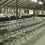 Professional auction set up and staging